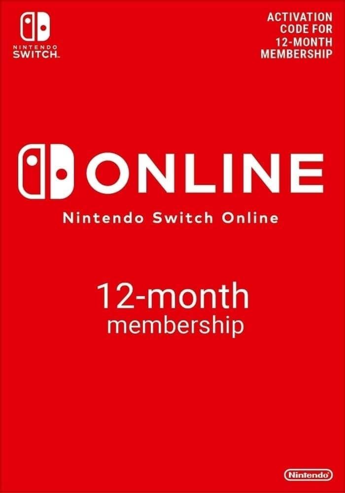 Nintendo Switch Online (Individual Membership - 12 months)