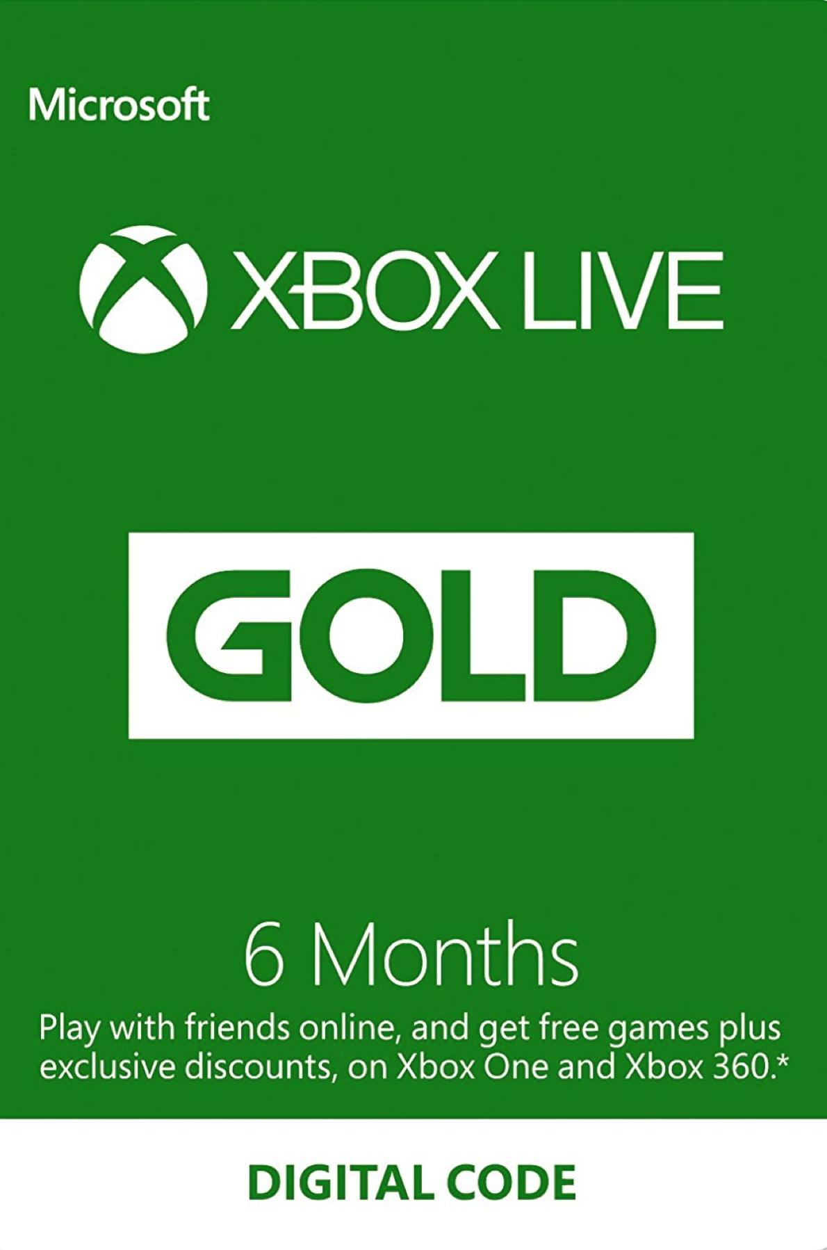 Picture of Xbox Live 6 Months Gold Membership