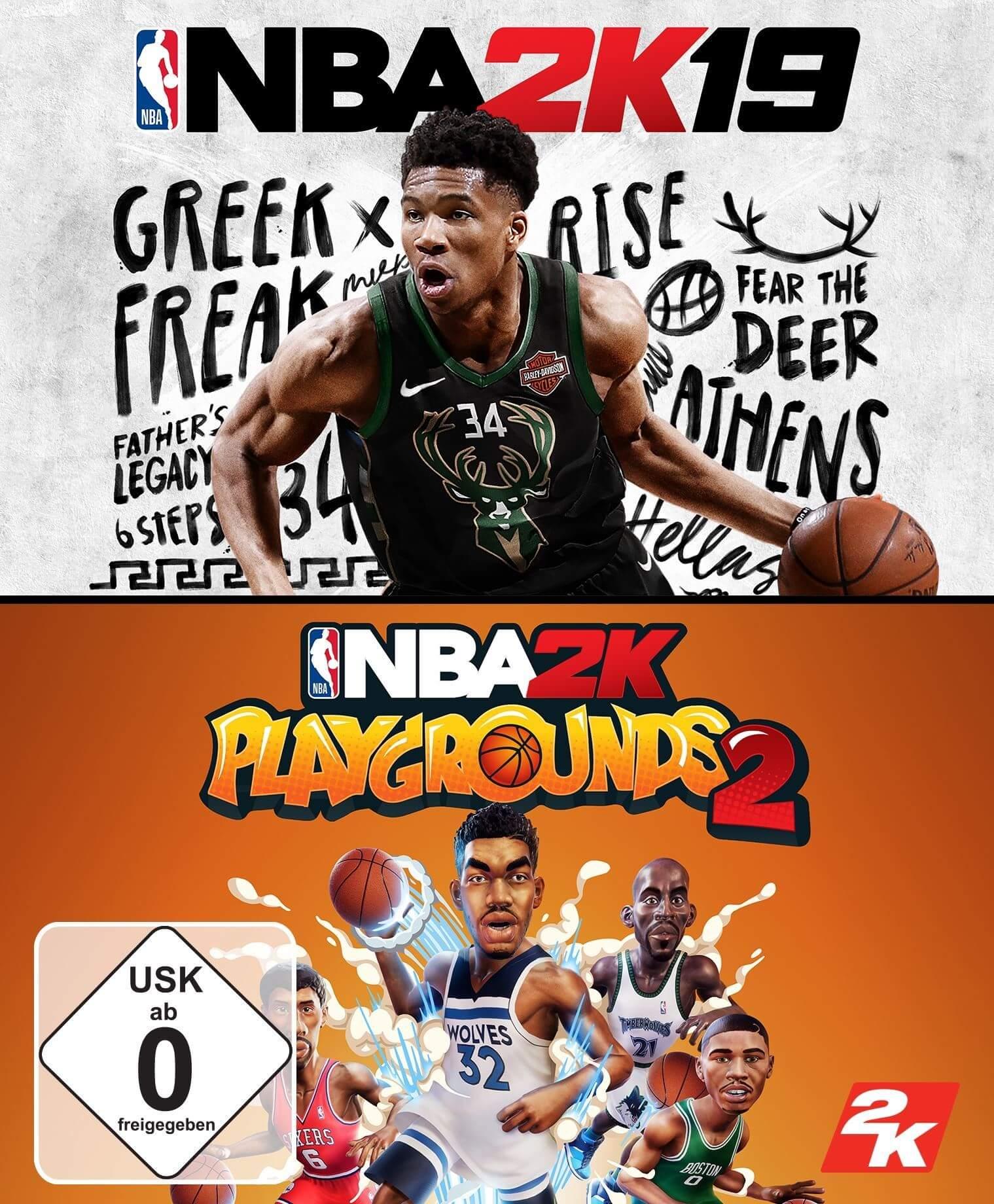 NBA 2K19 + NBA 2K Playgrounds 2 Bundle (EU)