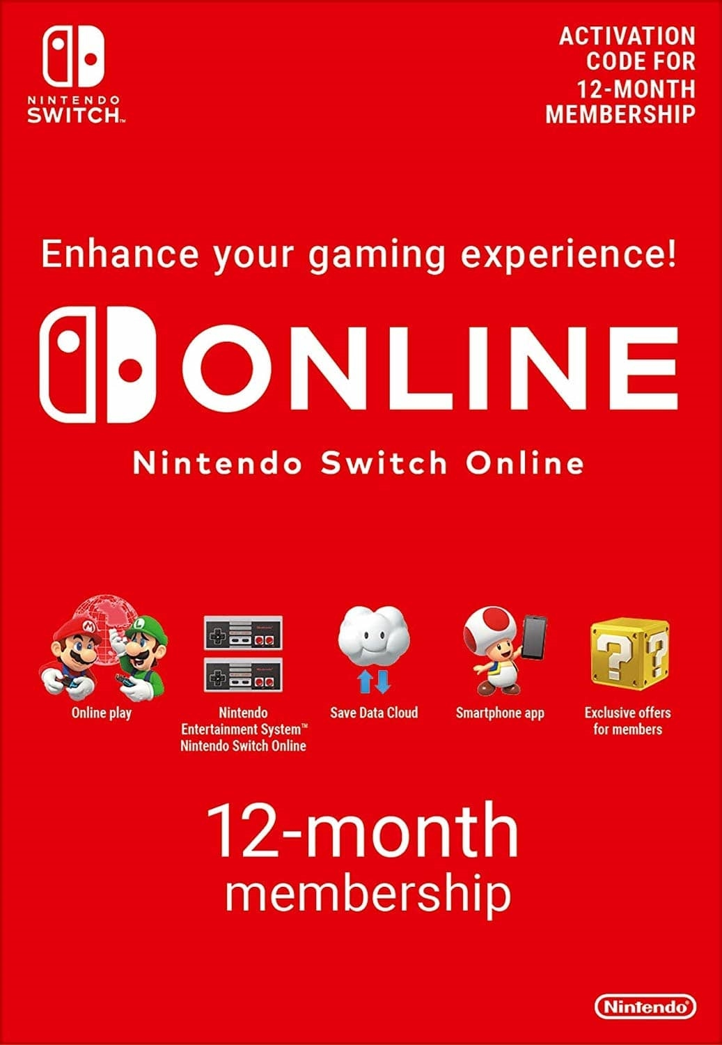 Picture of Nintendo Switch Online (Family Membership - 12 months)
