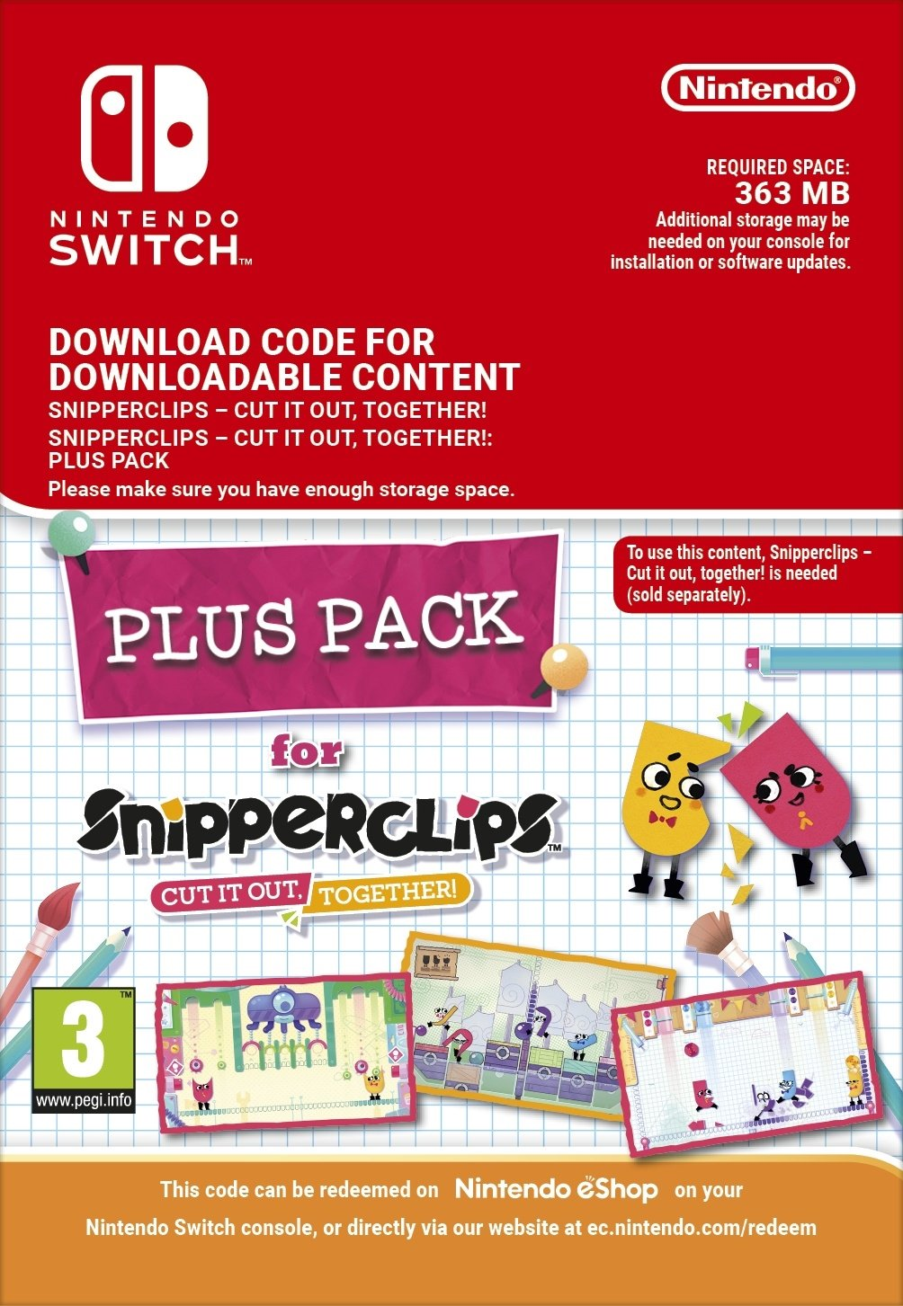 Picture of Snipperclips: Cut it out together PlusPack